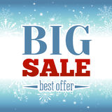 Winter sale poster. Vector illustration. Stock Photo