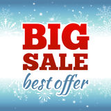 Winter sale poster. Vector illustration. Royalty Free Stock Photo