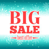 Winter sale poster. Vector illustration. Stock Photography