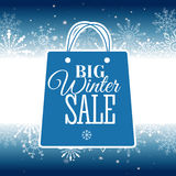 Winter sale poster. Vector illustration. Vector illustration of Winter sale poster. Banner Stock Images