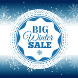 Winter sale poster. Vector illustration. Vector illustration of Winter sale poster. Banner Stock Photography