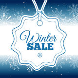 Winter sale poster. Vector illustration. Vector illustration of Winter sale poster. Banner Royalty Free Stock Photos