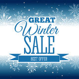 Winter sale poster. Vector illustration. Vector illustration of Winter sale poster. Banner Royalty Free Stock Image
