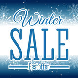 Winter sale poster. Vector illustration. Vector illustration of Winter sale poster. Banner Royalty Free Stock Photography