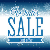 Winter sale poster. Vector illustration. Vector illustration of Winter sale poster. Banner Stock Image