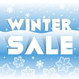 Winter sale poster, vector illustration Royalty Free Stock Photo