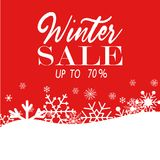 Winter sale poster. Vector illustration snow flakes Royalty Free Stock Photos