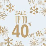 Winter sale poster. Vector illustration snow flakes Stock Image