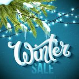 Winter sale poster Royalty Free Stock Image