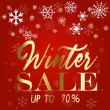Winter sale poster. Vector illustration snow flakes Stock Photos