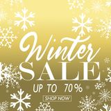 Winter sale poster. Vector illustration snow flakes Royalty Free Stock Images