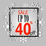 Winter sale poster. Vector illustration snow flakes Stock Images