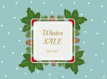 Winter sale poster . stock illustration