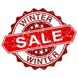 Winter sale red vintage stamp Stock Photo