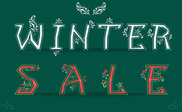 Winter Sale with retro letters Royalty Free Stock Photos