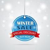 Winter Sale Round Price Sticker Stock Images