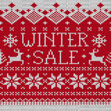 Winter Sale: Scandinavian seamless knitted pattern Royalty Free Stock Photo