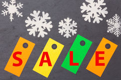 Winter sale and shopping Royalty Free Stock Image