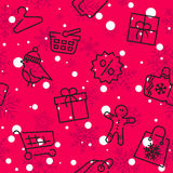 Winter sale and shopping seamless pattern Stock Image