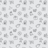 Winter sale and shopping seamless pattern Royalty Free Stock Image