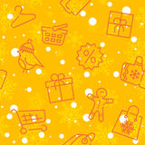Winter sale and shopping seamless pattern Stock Photography
