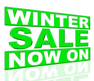 Winter Sale Shows At This Time And Discount Stock Photos