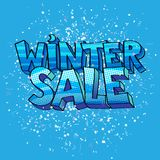Winter sale sign Royalty Free Stock Photo