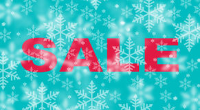 Winter sale with snowflake background Royalty Free Stock Image