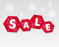 Winter sale with snowflakes poster Stock Images