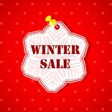 Winter Sale Snowflakes Sticker Stock Photo