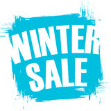 Winter Sale special offer banner with brush stroke background. Stock Images