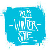 Winter Sale. Special offer banner with handwritten text design Stock Photo