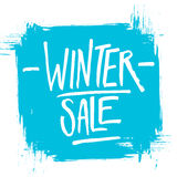 Winter Sale. Special offer banner with handwritten text design and brush stroke Stock Photo