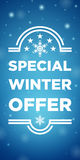 Winter sale special offer Royalty Free Stock Photography