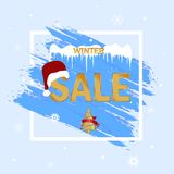 Winter sale. Special offer. Blue background. Christmas and New Year winter sale. Discount banner. Winter sale. Special offer. Blue background. Christmas and New stock illustration