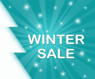 Winter sale. Stock Photos