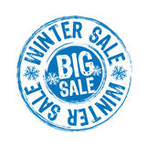 Winter sale stamp Stock Images