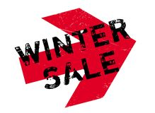 Winter sale stamp Royalty Free Stock Photo