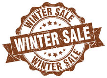 Winter sale stamp. Sign. seal Stock Photography