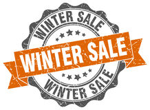Winter sale stamp. Sign. seal Royalty Free Stock Photography