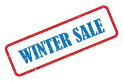 Winter sale stamp. On white vector illustration