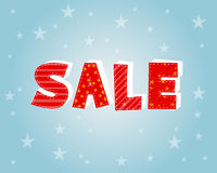 Winter sale with stars poster Stock Images