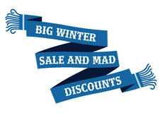 Winter sale sticker and banner. Christmas sale. New year sale. Web banners, advertisements, brochures, business templates.   Illustration on a white background Royalty Free Stock Photo