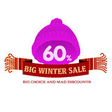 Winter sale sticker and banner. Christmas sale. New year sale. Web banners, advertisements, brochures, business templates.   Illustration on a white background Stock Photography