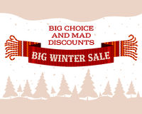 Winter sale sticker and banner. Christmas sale. New year sale. Web banners, advertisements, brochures, business templates.   Illustration on a white background Stock Image
