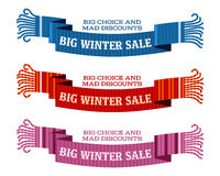 Winter sale sticker and banner. Christmas sale. New year sale. Web banners, advertisements, brochures, business templates.   Illustration on a white background Royalty Free Stock Photos
