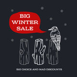 Winter sale sticker. Winter sale. Christmas sale. New year sale. Vector Illustration. Web banners, advertisements, brochures, business templates.  on a white Royalty Free Stock Image