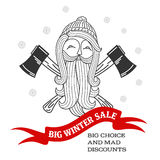 Winter sale sticker. Winter sale. Christmas sale. New year sale. Vector Illustration. Web banners, advertisements, brochures, business templates.  on a white Royalty Free Stock Photo