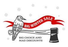 Winter sale sticker. Winter sale. Christmas sale. New year sale. Vector Illustration. Web banners, advertisements, brochures, business templates. on a white royalty free illustration