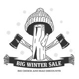 Winter sale sticker. Winter sale. Christmas sale. New year sale. Vector Illustration. Web banners, advertisements, brochures, business templates. on a white stock illustration